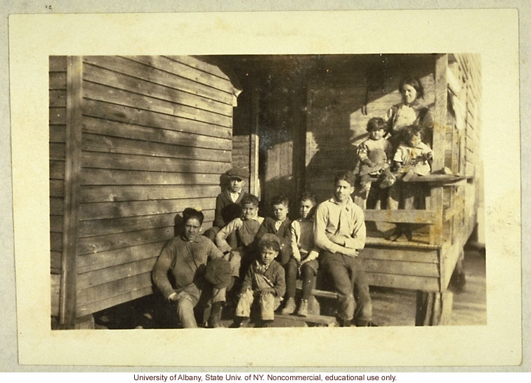 """Triple Mixtures"" (Caucasian-Indian-Negro) in Robeson County, North Carolina, from from Arthur Estabrook's scrapbook of field photographs (2)"