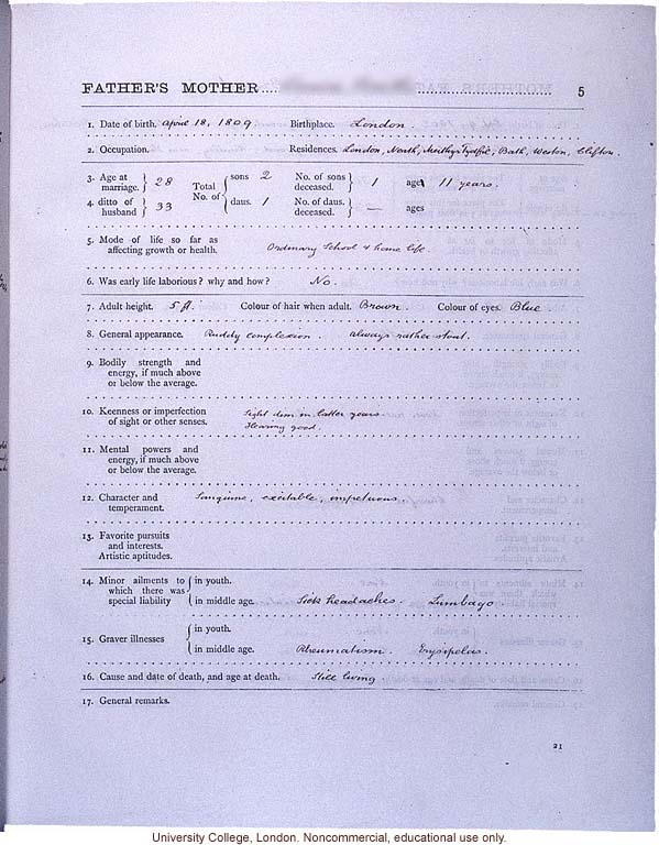... (compiled with completed family pedigree forms), selected pages (23