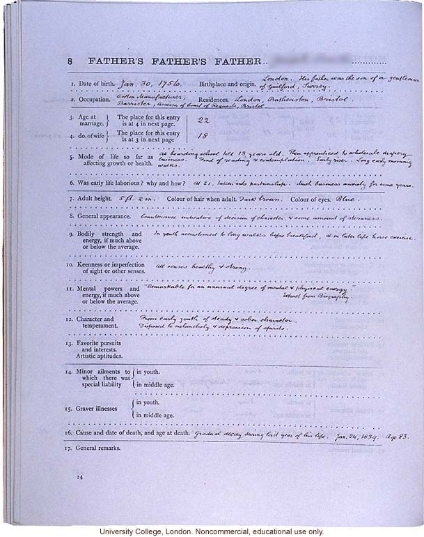 ... (compiled with completed family pedigree forms), selected pages (26